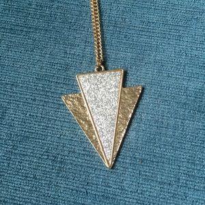 Two Tone Glitter Arrow Pendant